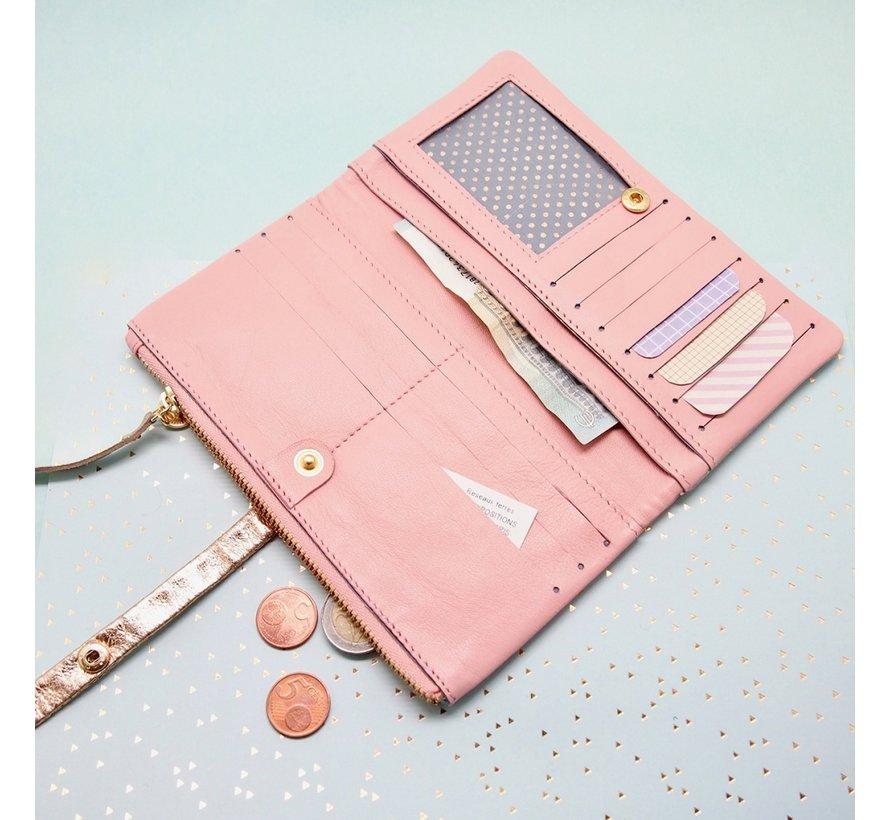Leder Portemonnaie | Palmtree Rosa