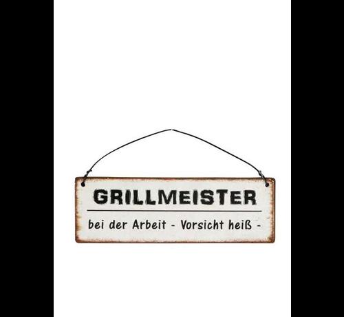 Blechschild - Grillmeister