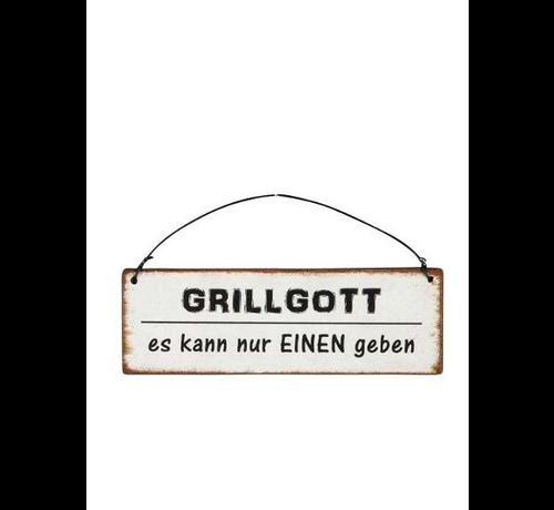Blechschild - Grillgott