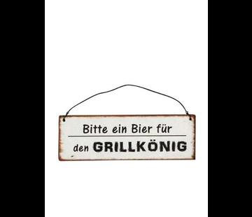 Blechschild - Grillkönig