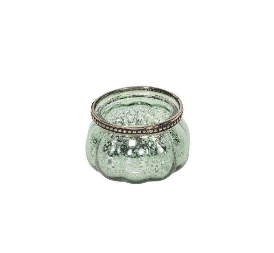 """Teelichthalter """"Light green""""   D8,5xH5,5cm"""