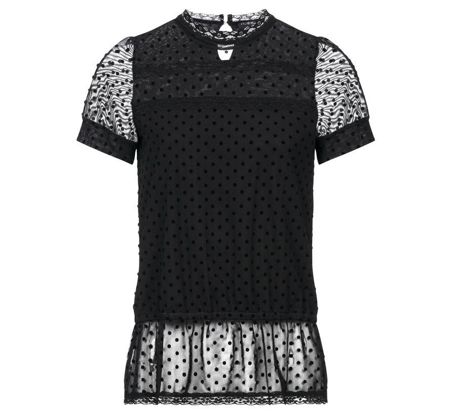 Bluse | Minette Douce Blouse - black