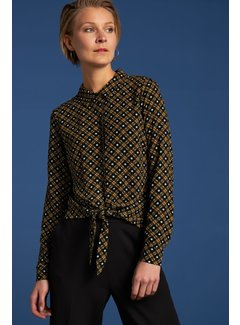 King Louie Bluse | Knot Blouse Square Dance - Black