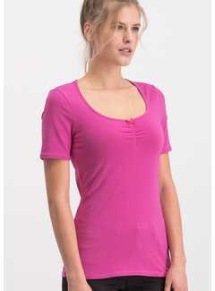 Blutsgeschwister Shirt | logo balconette tee - back to pink