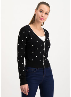 Blutsgeschwister Strickcardigan | powerdots cardigan - super black dot