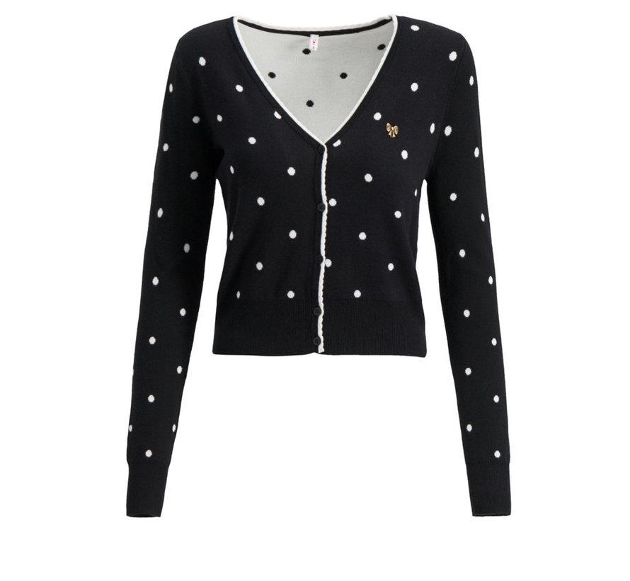 Strickcardigan | powerdots cardigan - super black dot