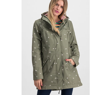 Blutsgeschwister Softshell-Parka | wild weather long anorak - snow swallow