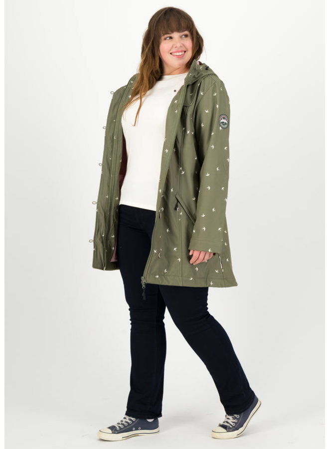 Softshell-Parka | wild weather long anorak - snow swallow