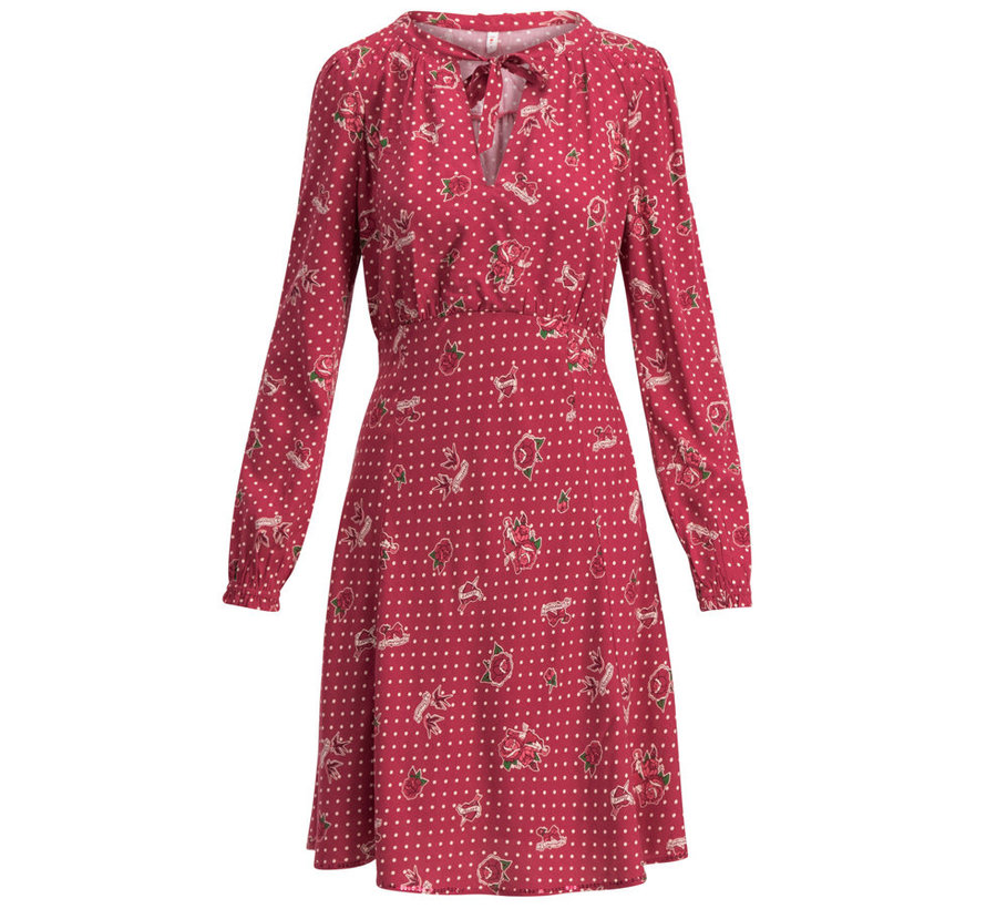 Web-Kleid | greta in love robe - hillbilly friendship