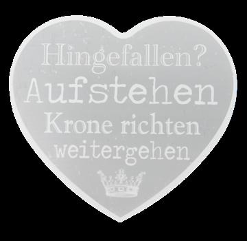 Clayre & Eef Blechschild - Krone richten - Herzform