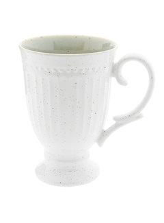 Clayre & Eef Cappuccinotasse Provence - 100% Porzellan - Weiss