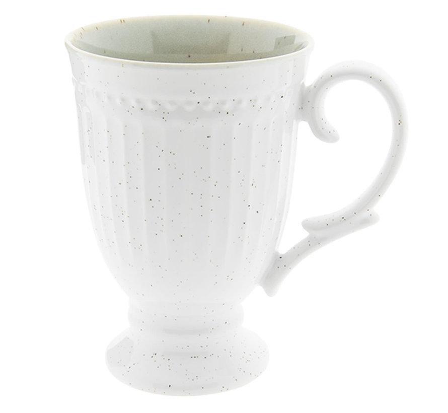 Cappuccinotasse Provence - 100% Porzellan - Weiss