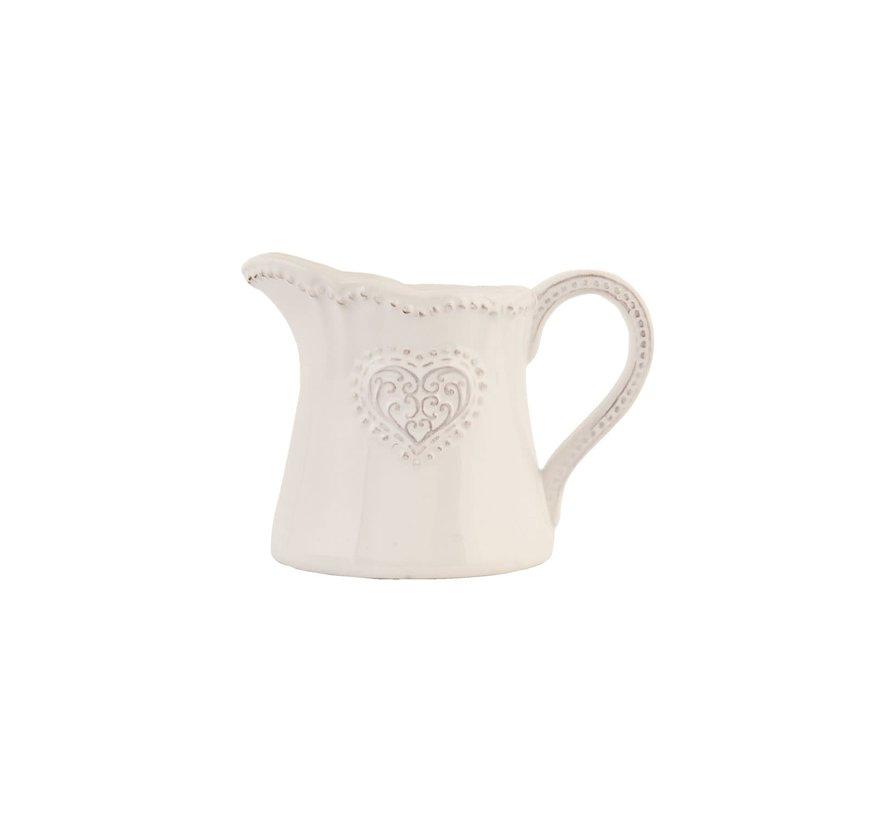 Milchkännchen Provence - Heart - Weiss