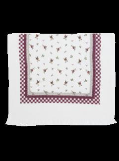 "Clayre & Eef Gästetuch ""Berry Roses"" | 40x60 cm Baumwolle"