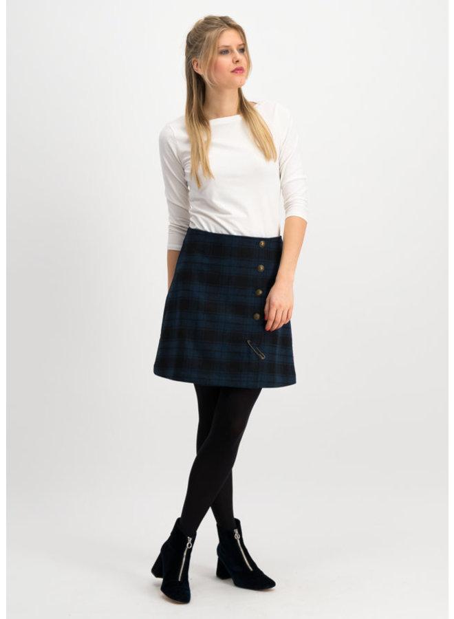 Rock   dudelpipe pleats skirt - royal check