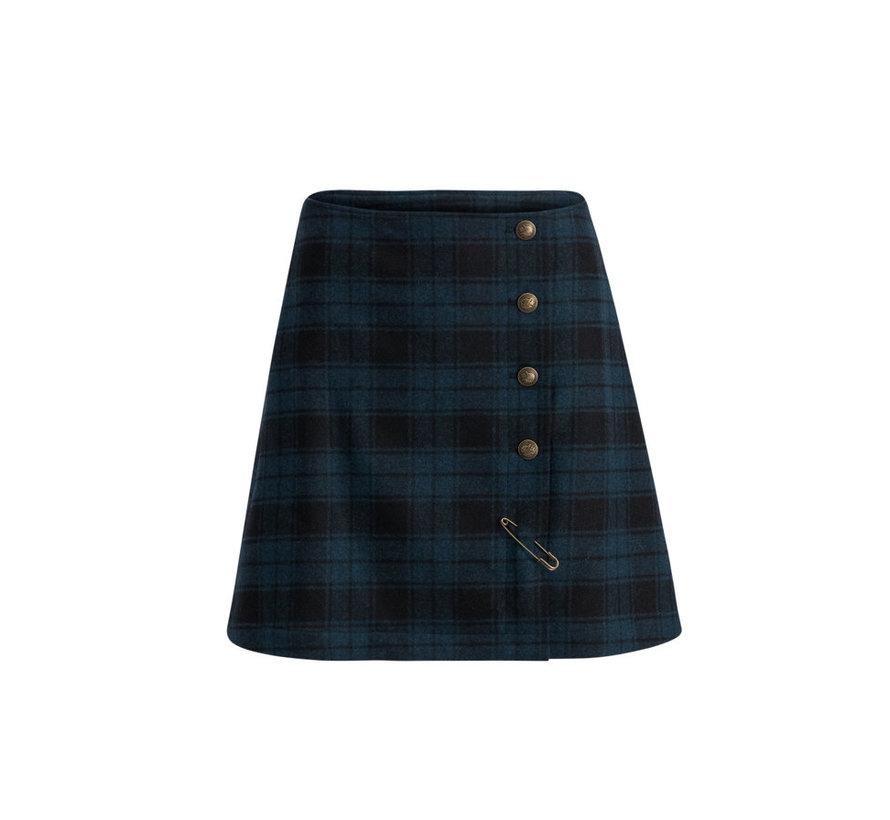 Rock | dudelpipe pleats skirt - royal check