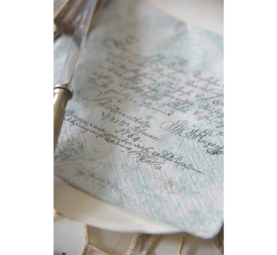 Papierservietten mit Text