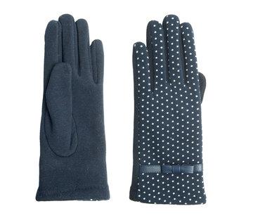Clayre & Eef Handschuhe - Blau mit weissen Punkten