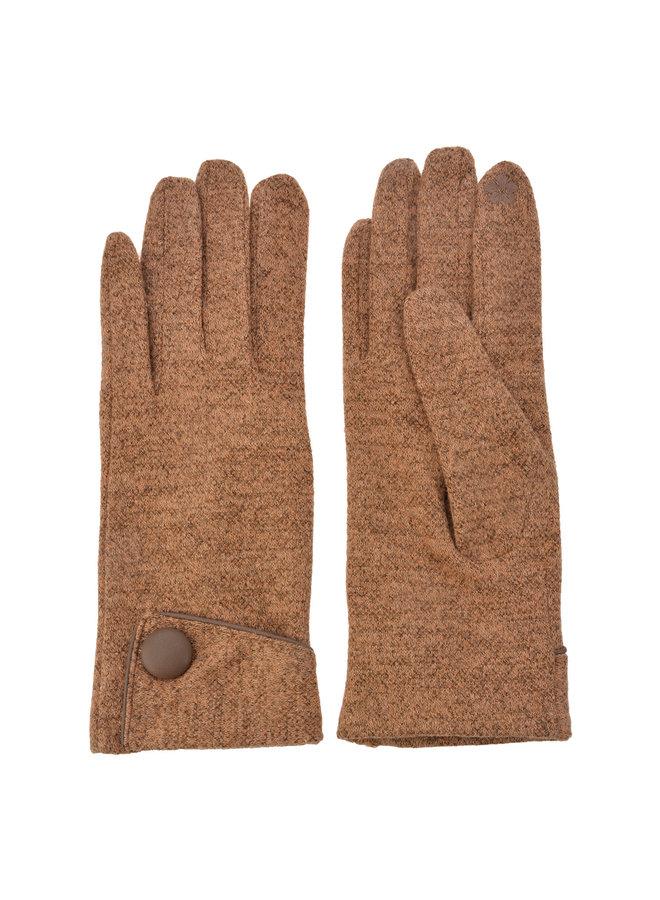 Handschuhe - Khaki mit Smartphone Touch