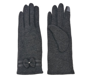 Clayre & Eef Handschuhe - Grau mit Smartphone Touch