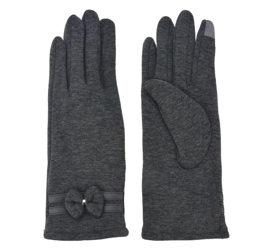 Handschuhe - Grau mit Smartphone Touch