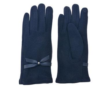 Clayre & Eef Handschuhe - Dunkelblau mit Smartphone Touch