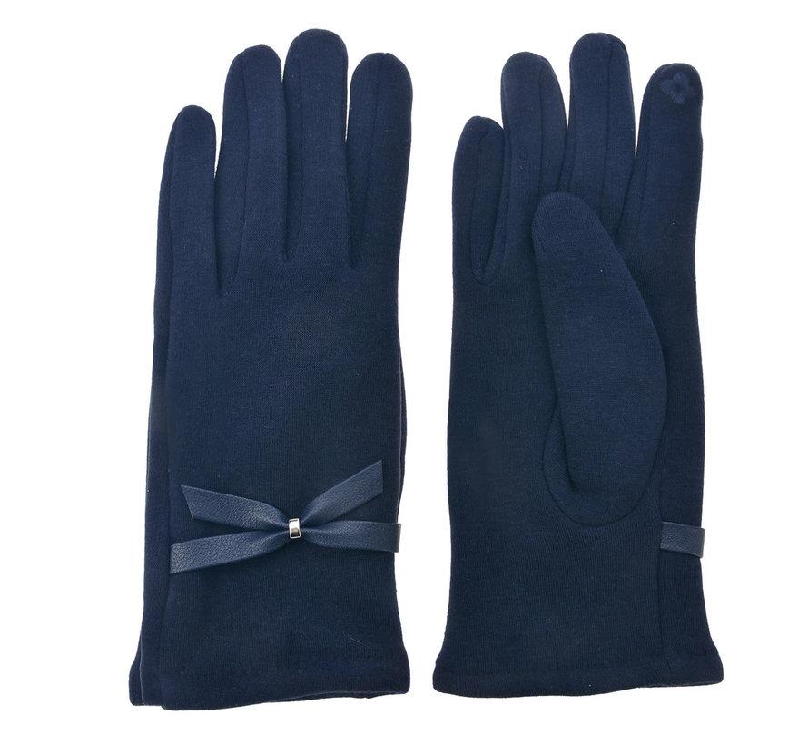 Handschuhe - Dunkelblau mit Smartphone Touch