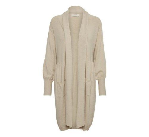 Cream Clothing Langcardigan | Adelina Knit Cardigan - Light Beige