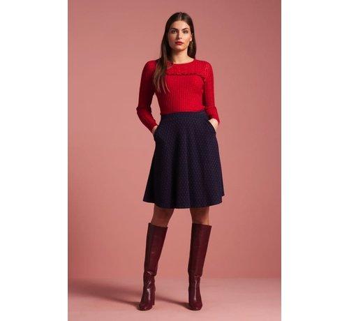 King Louie Rock | Sofia Skirt Midi Peroni - Blue