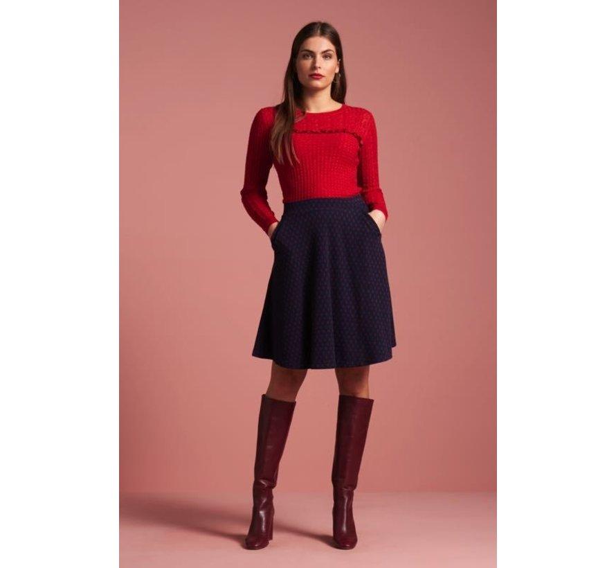 Rock | Sofia Skirt Midi Peroni - Blue