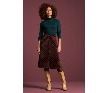 King Louie Rock | Trudy Skirt Nikki Stripe - Pine Green