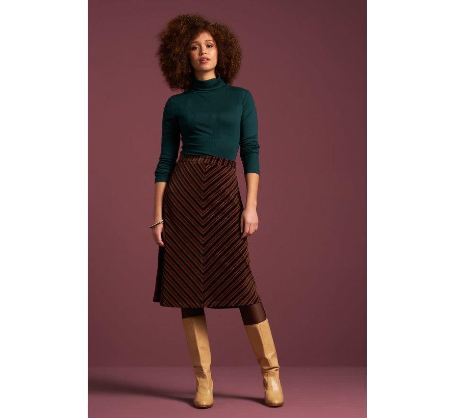 Rock | Trudy Skirt Nikki Stripe - Pine Green