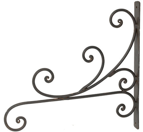 Wandhalterung dunkelrostfarben lackiert - 28cm