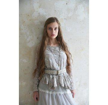 Jeanne d`Arc Living Spitzenbluse | Pure glory - Light Grey - XS