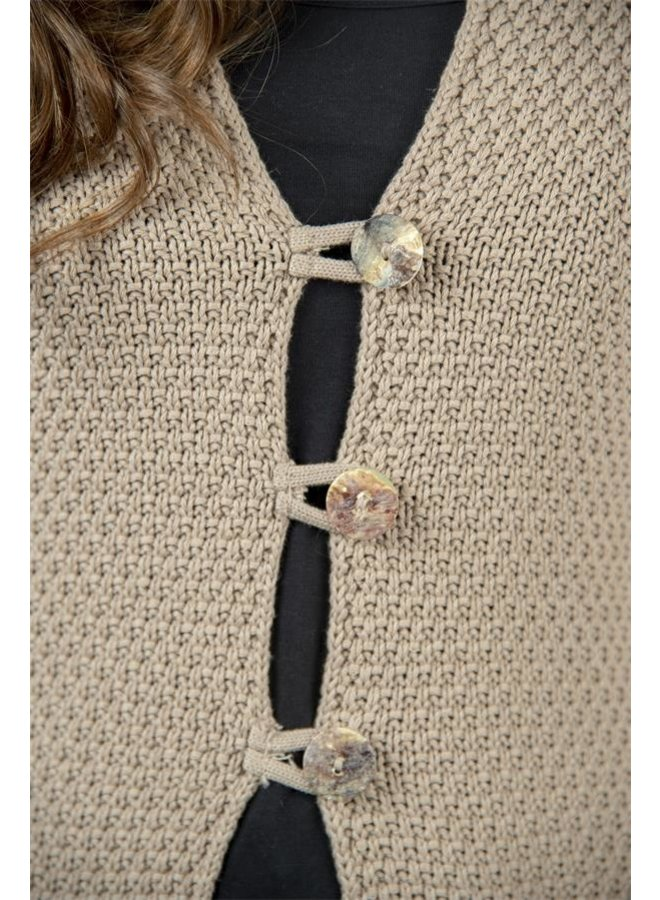 Langer Strickcardigan | Classic moments - Beige