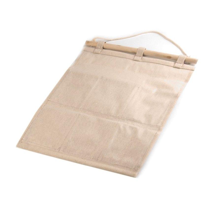 Organizer aus Leinen mit 5 Taschen