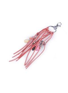 Enchanté Schlüsselanhänger | Taschenanhänger - Baum des Lebens, Muschel - Rosa