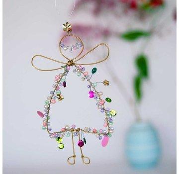 Glitter Engel aus Draht mit Glittersteinen