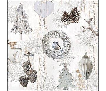 Servietten Wintervogel - 30x30cm - FSC