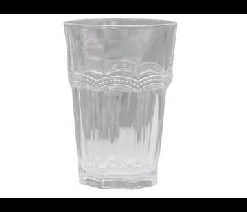 Chic Antique Trinkglas | Antoinette | mit Perlenkante | weiss