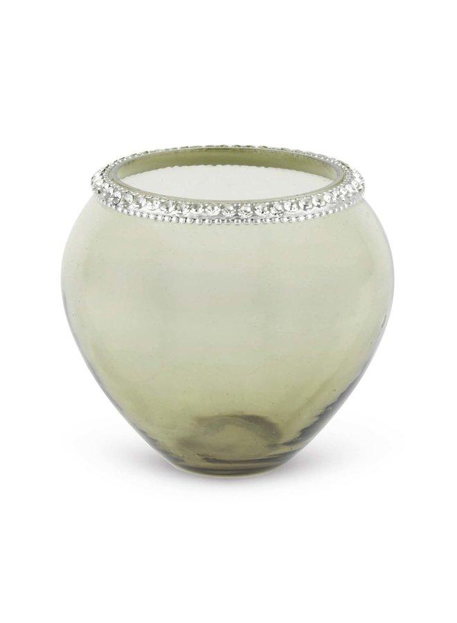 """Teelichthalter """"Diamond"""" - MIttel Mint"""