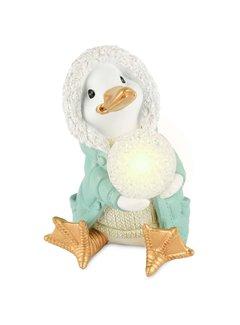 "Dekofigur ""Ducky"" - Mint mit LED Lampe"