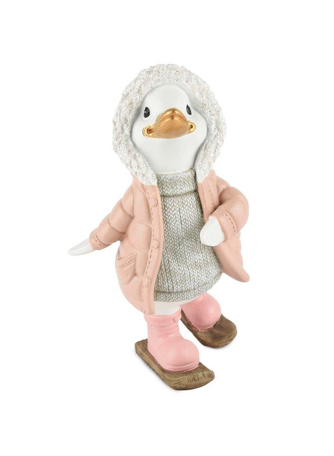 "Dekofigur ""Ducky"" - Rosa Stehend"