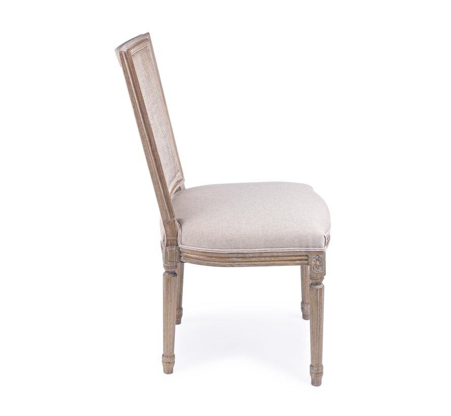 Stuhl Lilyan | Eschenholz - Baumwolle - Leinen