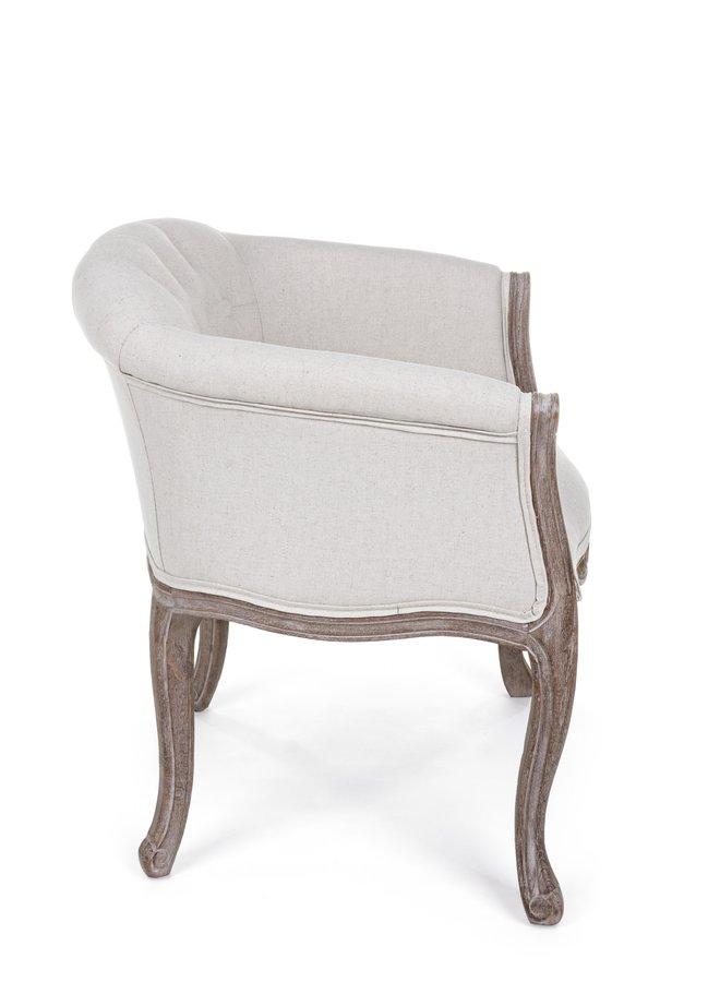 Sessel Lilyan aus Gummibaum - Baumwolle - Leinen