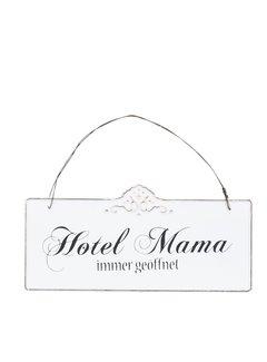 Clayre & Eef Blechschild Hotel Mama - 21x15cm