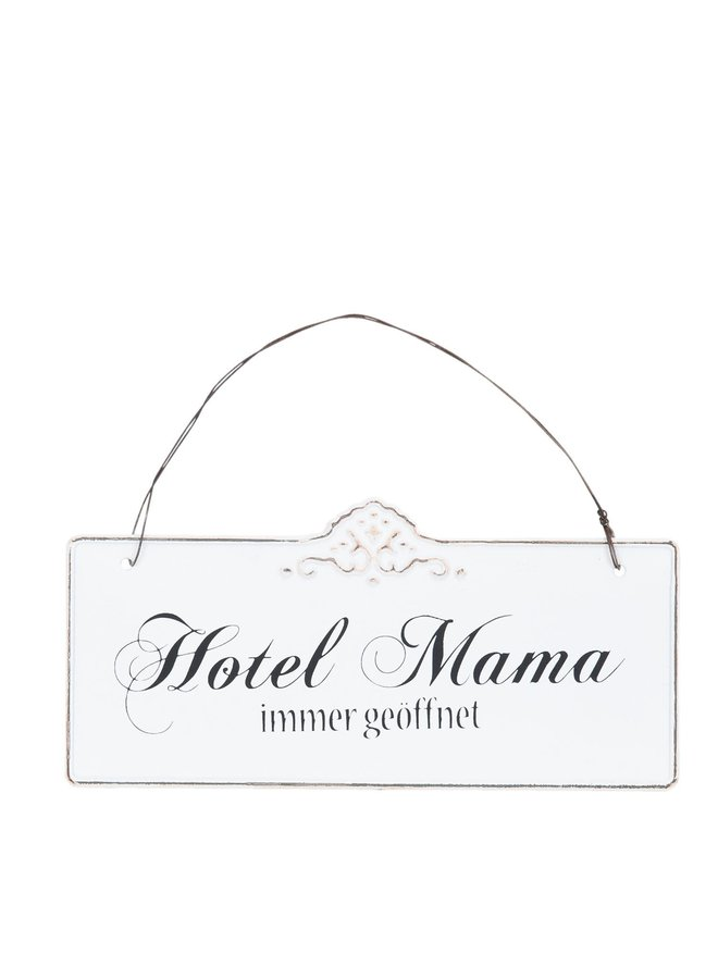 Blechschild Hotel Mama - 21x15cm