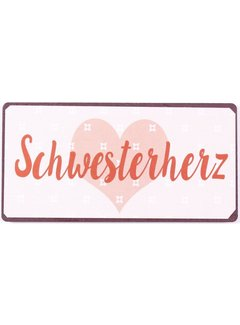 """Kühlschrankmagnet """"Schwesterherz"""""""
