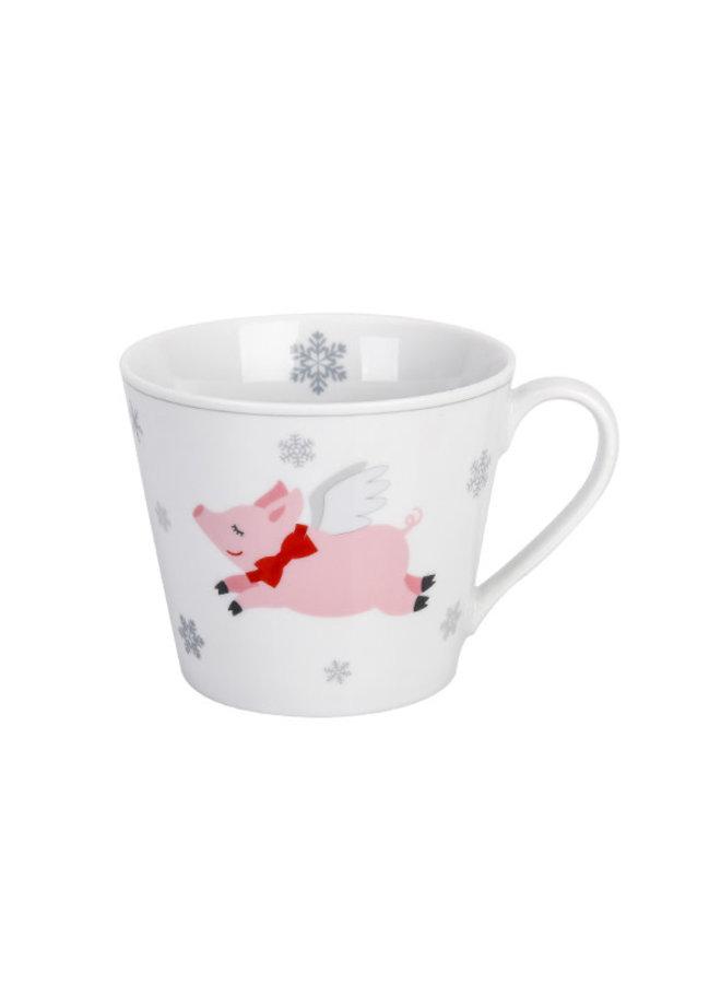 Tasse Happy Cup - Schweinchen und Gans