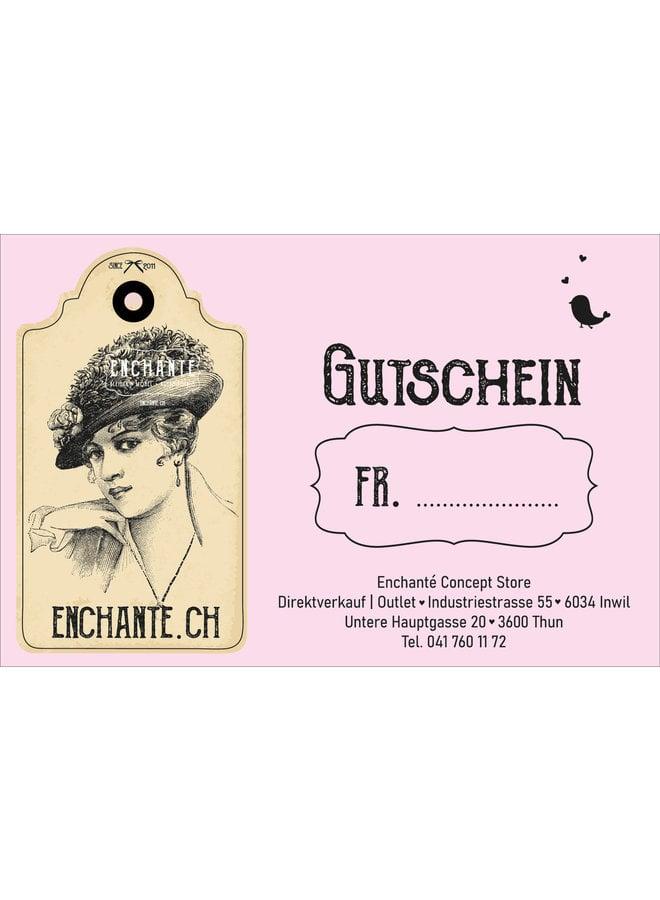 Gutschein - Geschenkgutschein für Damen (50.- bis 200.-)